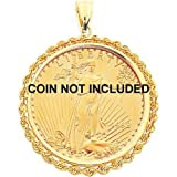 51PMHnEPzJL. SL160  14K Gold Bezel Jewelry for 1oz American Eagle Coin New