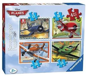 Ravensburger Disney Planes - Juego de puzles (4 unidades), diseño de aviones