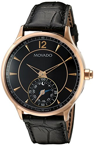Movado-Mens-Swiss-Quartz-Gold-Tone-and-Leather-Watch-ColorBlack-Model-0660009