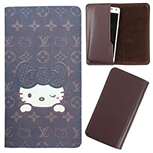 DooDa - For Gionee Pioneer P5W PU Leather Designer Fashionable Fancy Case Cover Pouch With Smooth Inner Velvet