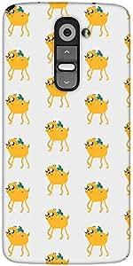 Snoogg Pixel Adventure Designer Protective Back Case Cover For LG G2