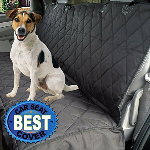 Car Seat Cover for Dogs with Hammock Option - Side Flaps to Protect the Sides of Your Seats - Free Pet's Seatbelt Bonus - Water Resistant - Fits Most Vehicles, Trucks and SUVs - Soft Non-slip Backing (Dodge Ram Backseat Cover compare prices)