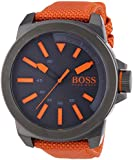 BOSS Orange Herren-Armbanduhr XL New York Analog Quarz Textil 1513010