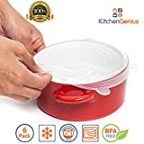 Multi Size 6 Silicone Lids Food and Bowl Covers - Reusable Stretch Lids Cover Wrap for Food and Spices Storage Cans, Containers, Mugs, Mason Jars and Bowls - Perfect Baking and Cooking Kitchen Gadgets