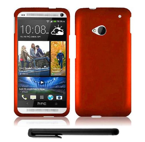 Best  HTC One (M7) Snap-On Protector Hard Cover Case + Bonus Long Arch 5.5