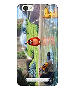 Case Cover Angry Bird Printed Colorful Soft Back Cover For LYF WIND 6
