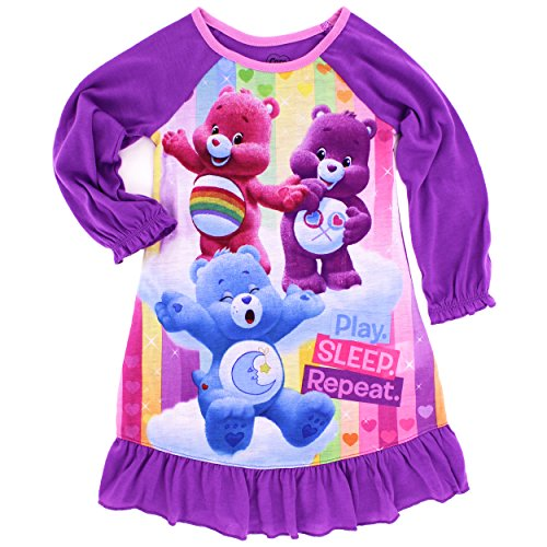 care-bears-toddler-girls-sleep-gown-purple-4t