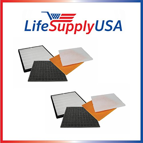 2 Pack Filter Kit Fits Rabbit Air Air Minus A2 SPA-780A & SPA-780A, Designed & Engineered by LifeSupplyUSA