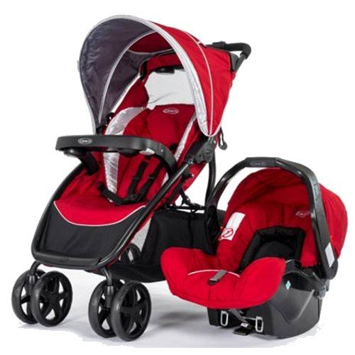 Graco Dynamo Lite Travel System - Salsa (Red)