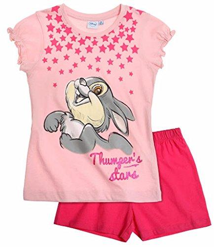 Klopfer aus Bambi 2015 Schlafanzug Shorty 92 98 104 110 116 122 128 Mädchen Shortie Disney Pyjama Kurz Neu Rosa-Darkrosa (86 - 92)