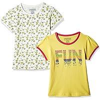 Cherokee Girls' T-Shirt (Pack of 2) (267530051_Yellow_7 - 8 years)