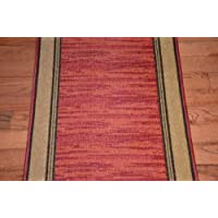 Dean Washable Carpet Rug Runner - Boxer Terra Cotta - Purchase By the Linear Foot