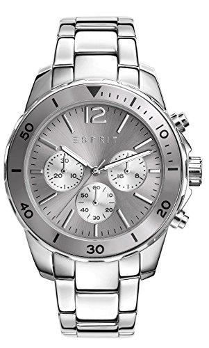 ESPRIT ES108262005 - Reloj para mujeres, correa de acero inoxidable color plateado