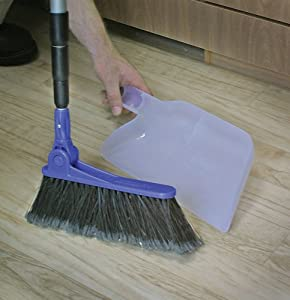 Camco 43623 Adjustable Broom and Dustpan
