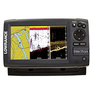 Lowrance Elite-7 HDI Gold Combo 83 200 455 800 T M Ducer - Chart US Canada Coastal Great Lakes & Major Canadian Lakes(DISCONTINUED) by Lowrance