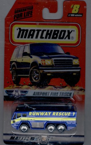 Matchbox 1998-8 of 100 Series 8 AIR Traffic Airport Fire Truck 1:64 Scale - 1