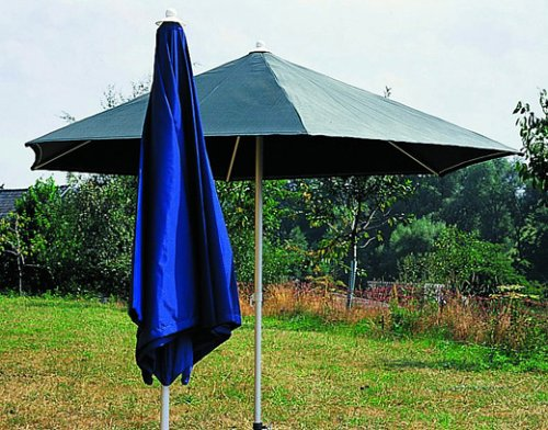 Sonntex Alu Sonnenschirm, 286cm Alu-Facetten-Gestell, Polyesterbezug blau, 6-tlg. günstig