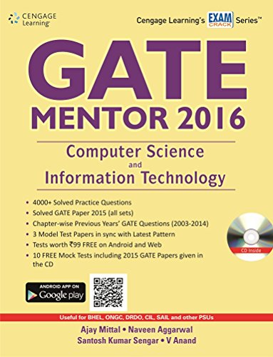 GATE Mentor 2016: Computer Science and Information Technology