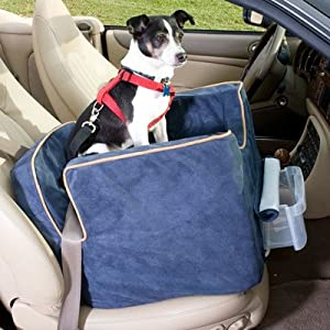 Bundle-27 Luxury Lookout II Pet Car Seat in Microsuede (Set of 2) Size: Medium (up to 25 lbs), Fabric: Buff Mutt