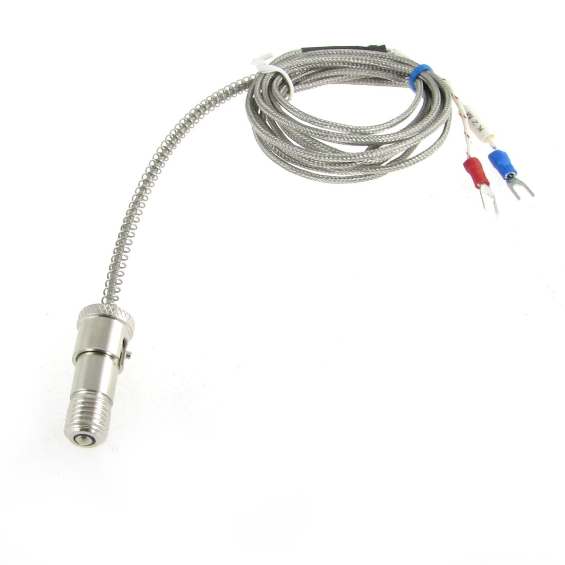 K Type 0-400C Spring Loaded Bayonet Thermocouple Sensor 2M 2000 1850m wrn 230 k type fabricated thermocouple industrial temperature sensor with screw
