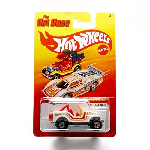 ROLL PATROL (WHITE) * The Hot Ones * 2011 Release of the 80's Classic Series - 1:64 Scale Throw Back HOT WHEELS Die-Cast Vehicle - 1