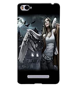 Fuson Feather Girl Back Case Cover for XIAOMI Mi4i - D4044
