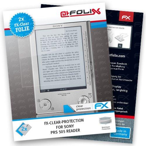 2 x atFoliX Sony PRS 505 Reader Displayschutzfolie - FX-Clear kristallklar