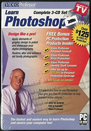 Video Professor Learn Photoshop 3 Complete 3-CD Set VideoProfessor