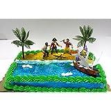 Cakesupplyshop Cjp998 Pirate Ship Pirate Revenge Cake Decoration Cake Topper