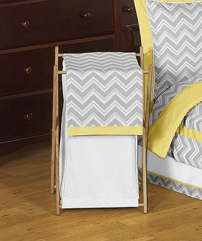 Baby/Kids Clothes Laundry Hamper for Yellow and Gray Zig Zag Bedding by JoJO Designs