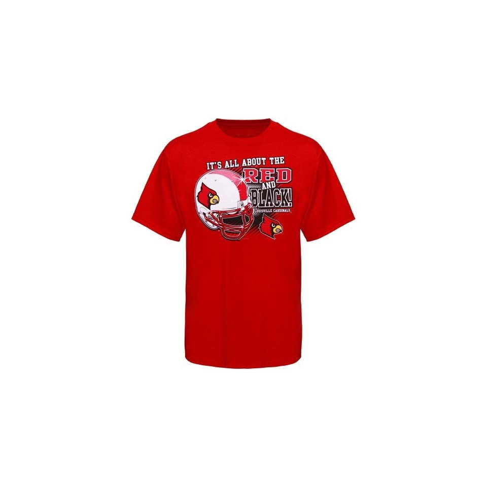 NCAA Louisville Cardinals Red All About T shirt