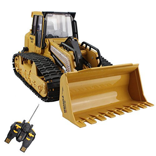 5 Channel Remote Control Crawler Bulldozer Heavy Truck Vehicle Toy Full Function Tractor Model With 7 Color Flashing Lights and Simulation Sound (Bulldozer Model compare prices)