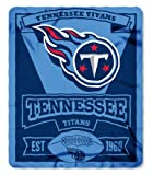 NFL Tennessee Titans Marque Printed Fleece Throw, 50-inch by 60-inch