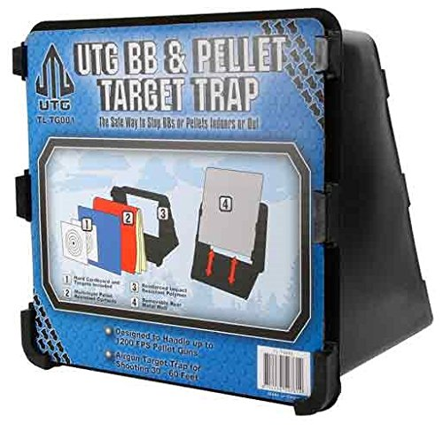 Leapers UTG Accushot Pellet & BB Trap, Ballistic Curtains, Paper Targets, Steel Backer (Pellet Trap 1200 Fps compare prices)