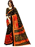 #8: Glory Sarees Women's Bhagalpuri Art Silk Saree(gloryart13_red_black)