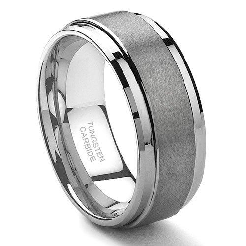 Tungsten Carbide Matte Men'S Wedding Band Ring Sz 9.0 Sn#190
