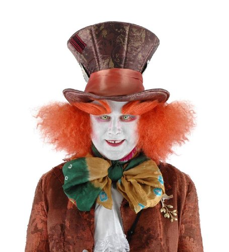 Alice In Wonderland Mad Hatter Costume Eyebrows Adult