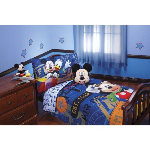 Disney Mickey Mouse 4pc Toddler Bedding Set Genuine