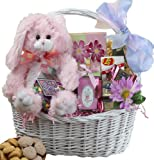 My Special Bunny Cookie and Candy Easter Gift Basket - PINK or PURPLE Bunny Rabbit