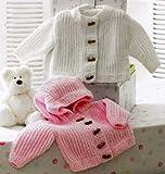 James C Brett Baby Jackets Knitting Pattern (JB172) Size : 36 - 56cm / 14 - 22inches