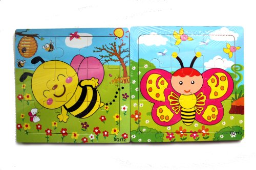 Wooden Jigsaw Puzzles - Bee & Butterfly