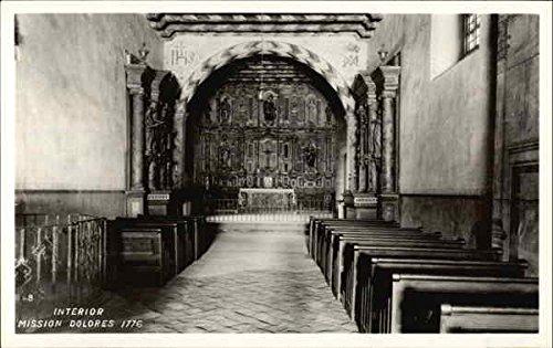 Mission Dolores - Interior 1776 San Francisco, Ca Original Vintage Postcard