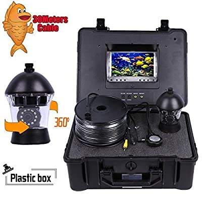 "Vanxse® 7"" TFT LCD Sony CCD 800tvl Hd Underwater Video Camera Fish Finder 360 Degree View, Remote Control boating fishing view camera Ice fishing Camera Kit Underwater Fish Camera (30Meters Cable) by shenzhen kaixing Security technology Co., LTD"