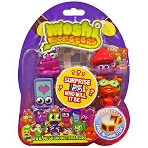Moshi Monsters Moshlings Series 3 Mini Figure 5Pack Includes 1 Virtual Prize Code! 장난감 [병행수입품]