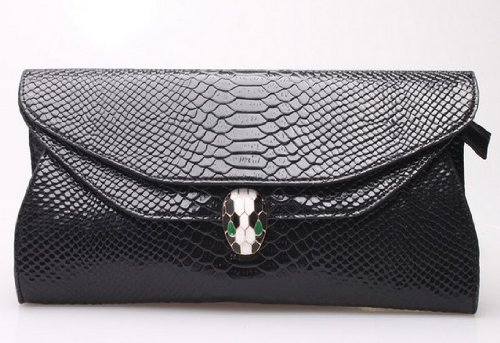 2013 Spring & Summer Enamel Snake Head Clutch Bag Glamor Small Shoulder Evening Bag