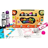 Dab and Dot Dauber Markers Set of 8 Washable Paint Marker Dabbers for Bingo & Art Educational Projects Preschool