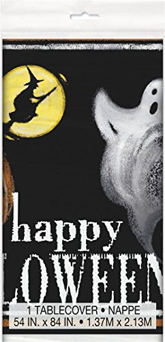 Partito Unico plastica Spettrale Halloween Tovaglia, 7ft x 4.5ft