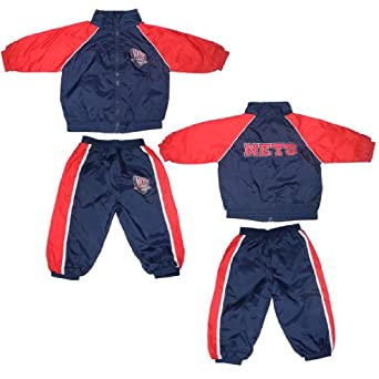 2 PCS Set: NBA New Jersey Nets Infant Athletic Zip-Up Jacket & Pants with... by NBA