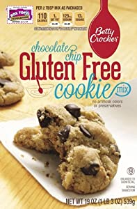 Betty Crocker Gluten Free Chocolate Chip Cookie Mix, 19-Ounce Boxes (Pack of 6)