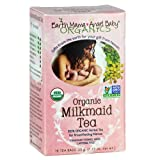 Earth Mama Angel Baby Organic Milkmaid Tea for Nursing, Lactation & Breastfeeding to Safely Support Breast Milk and Increase Mother's Milk, 16 Teabags/Box (Pack of 3)